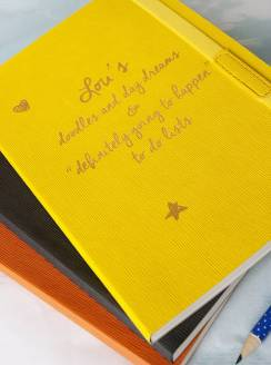 Personalised notebook Not on the high street £12.50