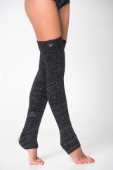 RAD Black sparkly leg warmers £14