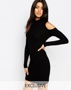 ASOS NaaNaa High Knitted Cold Shoulder Bodycon Dress £24