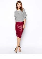 ASOS Pencil Skirt in Leather Look £15