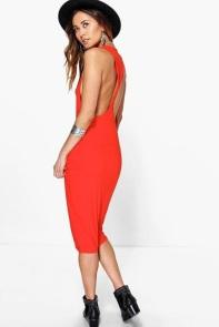 boohoo Rhiannon Twist Back Bodycon Midi Dress £12