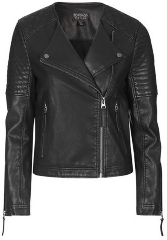 TopShop Quilted Faux-Leather Biker £48