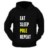 Aerial Crazy Eat sleep pole repeat hoodie £24.99
